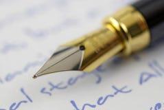 penna för springbrunnmakronib Arkivbilder