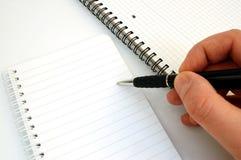 penna för 4 anteckningsbok Arkivbilder