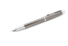 Penna isolata sopra un bianco Fotografia Stock
