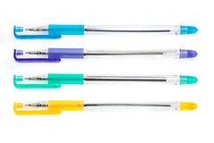 Penna isolata su bianco Fotografia Stock