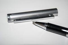 Penna nel Libro Bianco Immagine Stock