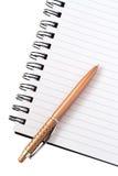 Penna på en dagbok Royaltyfri Bild