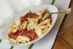 Penna Pasta Dinner Royalty Free Stock Photos