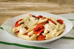 Penna Pasta Dinner Stock Photo