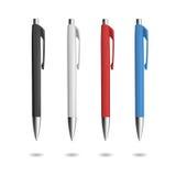Penna realistica quattro per progettazione di identità Fotografie Stock Libere da Diritti