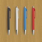 Penna realistica quattro per progettazione di identità Fotografia Stock