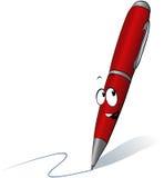 Penna rossa divertente Fotografia Stock