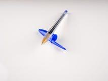 Penna a sfera blu Immagine Stock Libera da Diritti
