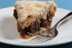 Penna Shoo Fly Pie. Shoofly Pie is a Pennsylvania Dutch dessert made of molasses with a wet, sticky and gooey bottom royalty free stock images