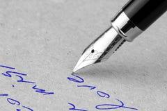 Penna stilografica Immagini Stock