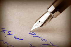 Penna stilografica Fotografie Stock Libere da Diritti