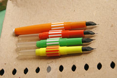Penna stilografica d'annata variopinta Fotografia Stock Libera da Diritti