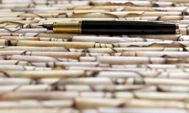 Penna stilografica su carta Immagine Stock Libera da Diritti