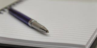 Penna su un cuscinetto Fotografia Stock Libera da Diritti