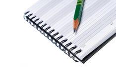 Penna sul blocchetto per appunti Fotografia Stock Libera da Diritti