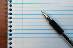 Penna sul taccuino Fotografia Stock