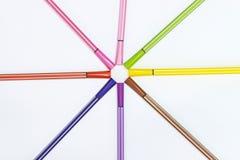 Penna variopinta di colore Immagini Stock