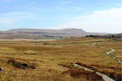 Penna-y-ghent från galen mossa, North Yorkshire Royaltyfria Bilder