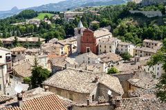 Pennabilli, Montefeltro (Italy), view of the old town Stock Photo
