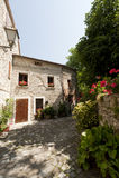 Pennabilli, oud dorp in Italië royalty-vrije stock fotografie