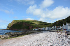 Pennan and Cliffs Royalty Free Stock Images