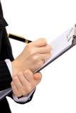 pennan skriver arkivfoton