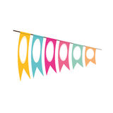 Pennant decoration festive clored Royalty Free Stock Photos