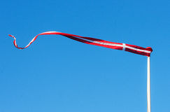 Pennant with the flag of Denmark blowing in the wind Stock Images