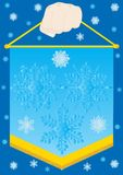 Pennant with snowflakes Royalty Free Stock Photography