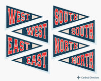Pennant template set Royalty Free Stock Photography