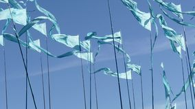 Pennant triangle flags stock footage