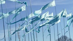 Pennant triangle flags stock video footage