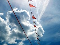 Pennant in the wind Royalty Free Stock Photo