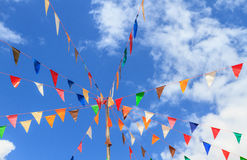 Pennants with blue sky Stock Photo