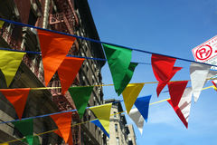Pennants. Colorful pennants in New York City Royalty Free Stock Photo