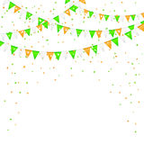 Pennants and confetti Royalty Free Stock Photography