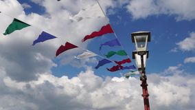 Pennants flutter on the wind Royalty Free Stock Photos