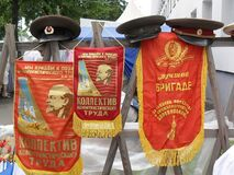 Pennants, symbols and caps of the former USSR