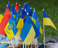 Pennants of the Ukraine Royalty Free Stock Image
