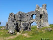 Pennard城堡,三峭壁海湾 免版税库存图片