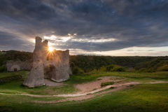 Pennard castle Sunset Royalty Free Stock Photography