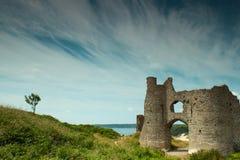 Pennard-Schloss im Gower, Wales Stockbilder