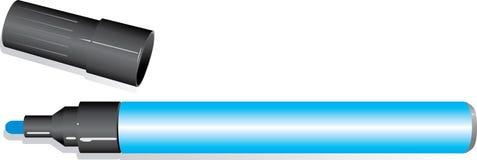 Pennarello blu Fotografie Stock