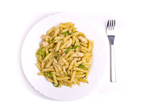 Penne al pesto Stock Photo