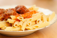 Penne al Sugo Royalty Free Stock Photography