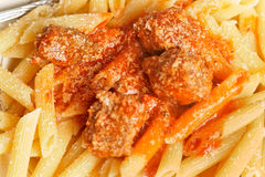 Penne al Sugo royalty free stock photo