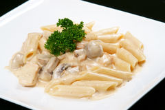 Penne Alfredo Images stock
