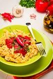 Penne all'Arrabbiata - Italian Pasta Stock Photo