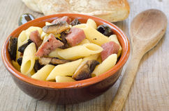 Penne alla boscaiola Royalty Free Stock Photography