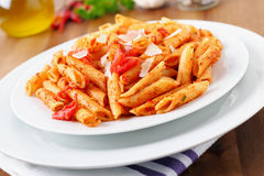 Penne arrabiata Stock Photography